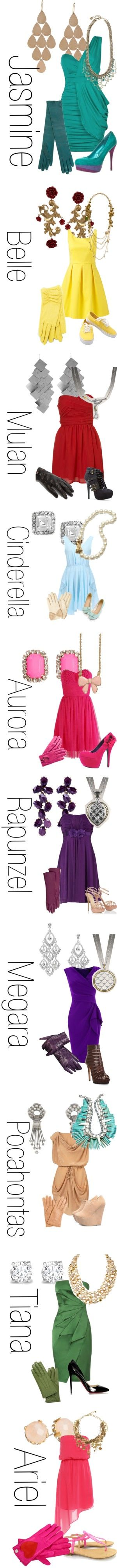 """Disney Princesses Cocktail Party"" by jchalo3 on Polyvore"