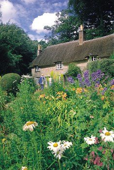 Thomas Hardy's Cottage in Dorset, England