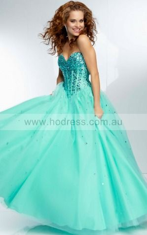 Sleeveless Sweetheart Lace-up Tulle Floor-length Formal Dresses zyh217--Hodress
