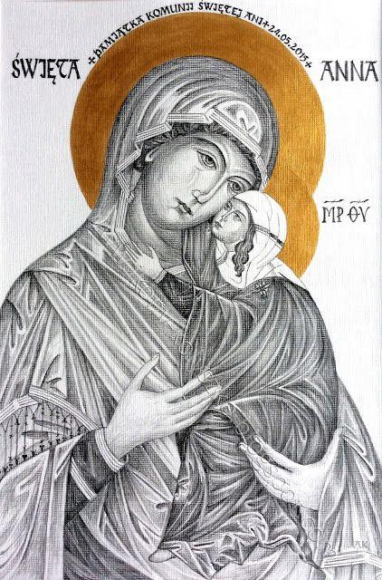 Ikony i sztuka sakralna: Święta Anna