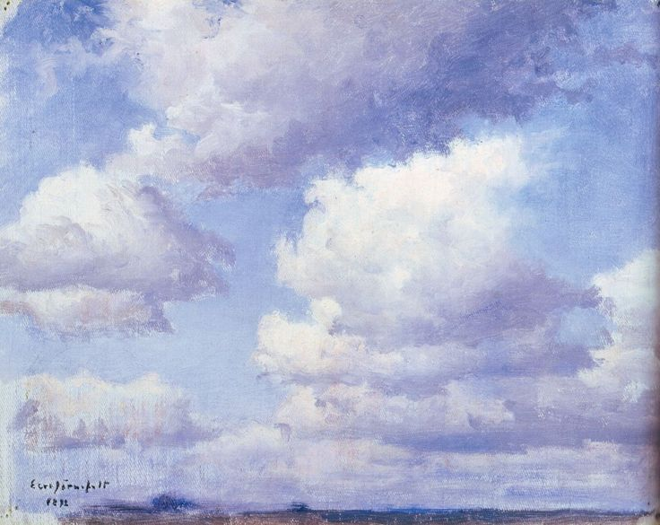 Cloud Study by Eero Järnefelt