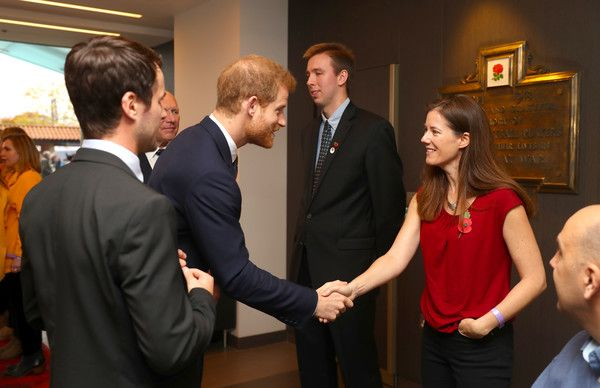 Prince Harry Photos - Prince Harry meets with people nominated by the RFU ahead of the Rugby Union International match between England and Argentina at Twickenham Stadium on November 11, 2017 in London, England. - Prince Harry Attends England V Argentina Rugby Match