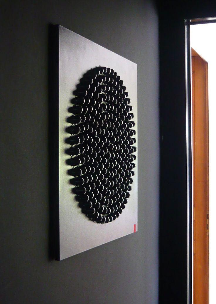 Idée de tableau en capsules Nespresso