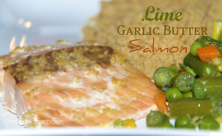 Lime Garlic Butter Salmon