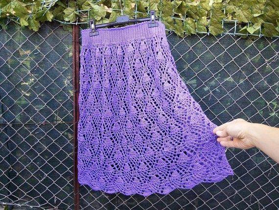 Guarda questo articolo nel mio negozio Etsy https://www.etsy.com/it/listing/242498154/gonna-elegante-a-crochet-in-cotone-100