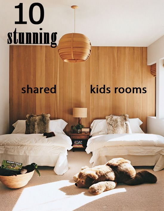 Shared kids roomsGuest Room, Shared Kids Room, Kids Bedrooms, Guest Bedrooms, Spare Room, Ac Lauder, Boys Room, Ski Chalets, Wood Wall