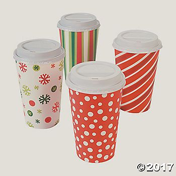 Bright Christmas Insulated Coffee Cups. Get energized for the holidays! Bright Christmas Insulated Coffee Cups come in a variety of vivid Christmas colors in ...