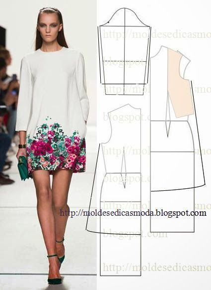 Dress - moldes moda por medida