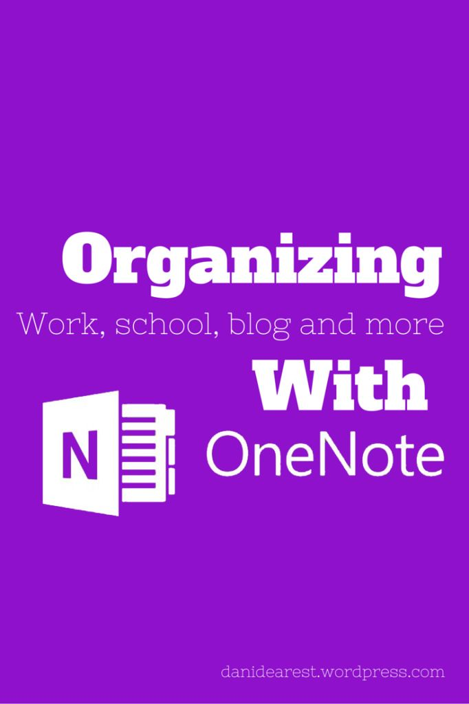 OneNote is a great tool for organizing all your work, school, blog, to-do lists, spreadsheets, and so much more!