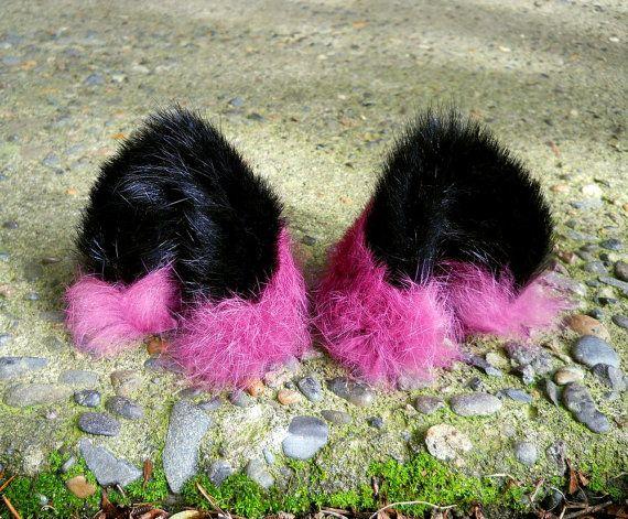 Black Leather Cat Ears