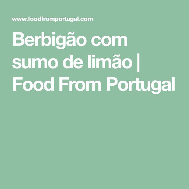 Berbigão com sumo de limão   Food From Portugal
