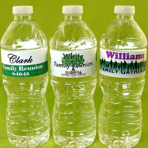 Personalized Family Reunion Water Bottle Labels LB7-WATER-FAMILY-WP
