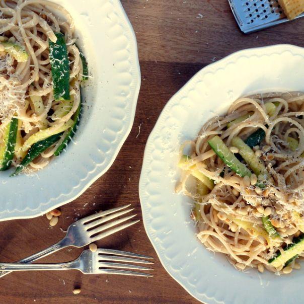 Low FODMAP, pine nut, courgette, pasta