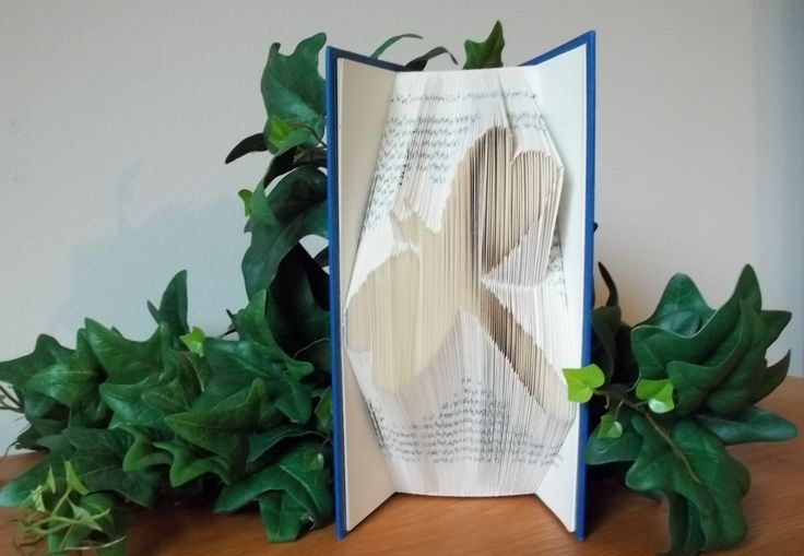 Folded Book Art, Dragonfly Art, Book Sculpture, Mother's Day Gift, Gift for Wife, Birthday Gift for Her, Beach Decor - pinned by pin4etsy.com