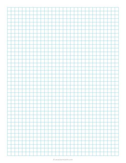 1 4 Inch Grid Plain Graph Paper Blue Free Printable Graph Papers Printable Graph Paper Graph Paper Free Paper Printables