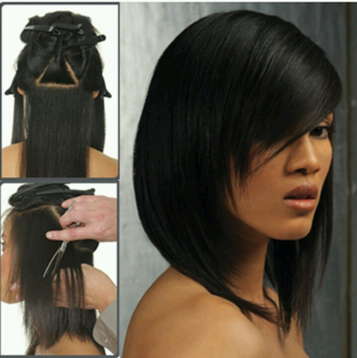 pictures of stacked bob haircuts layered sling haircut to layered sling haircut 5348