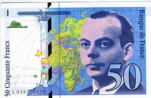 Le billet Saint Exupéry a remplacé  Quentin de La Tour dans nos poches en 1993 !