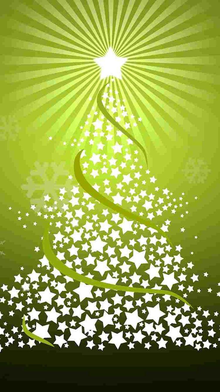 Wallpaper iphone natal - Green And White Star Christmas Tree Iphone 6 Wallpaper Snowflake