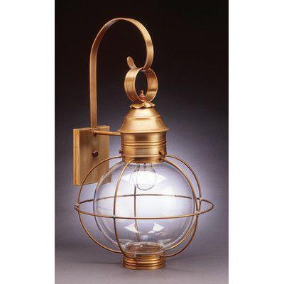Northeast Lantern Onion 2 Light Outdoor Wall Lantern Finish: Dark Antique Brass, Shade Type: Clear Seedy