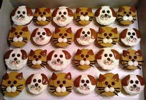 dog cupcakes | make the cute kitty cupcakes above, start with your favorite cupcakes ...