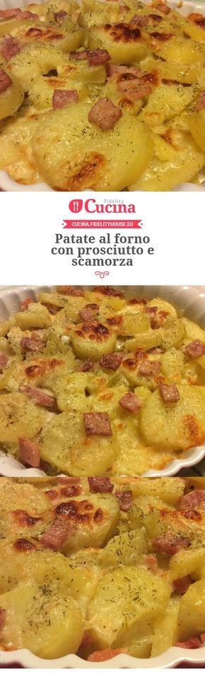 Patate al forno con prosciutto e scamorza