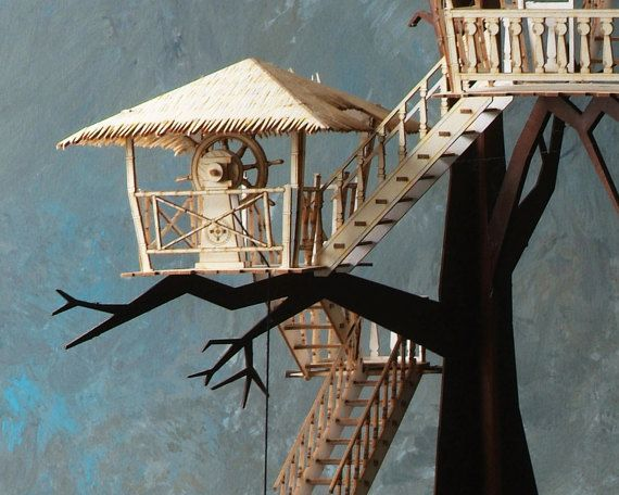 Tiki Tree House Architectural Laser Cut By