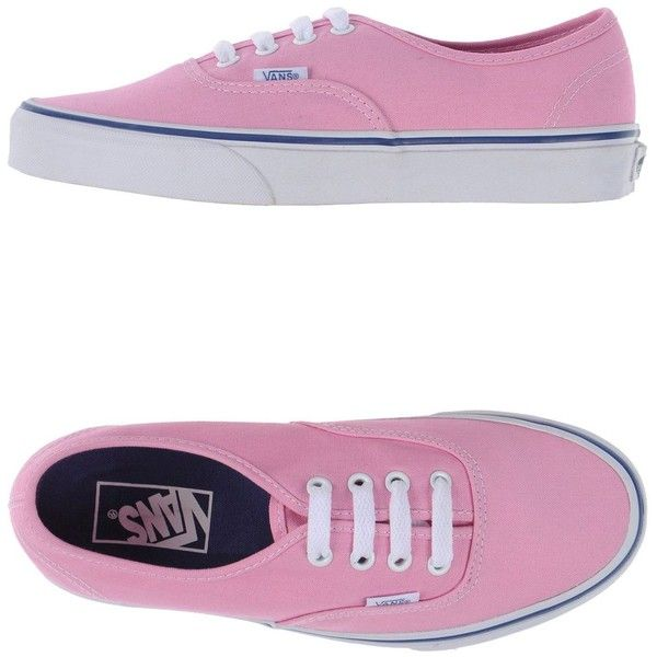 Vans Sneakers ($71) ❤ liked on Polyvore featuring shoes, sneakers, pink, pink flat shoes, flat sneakers, round cap, flat shoes and vans sneakers