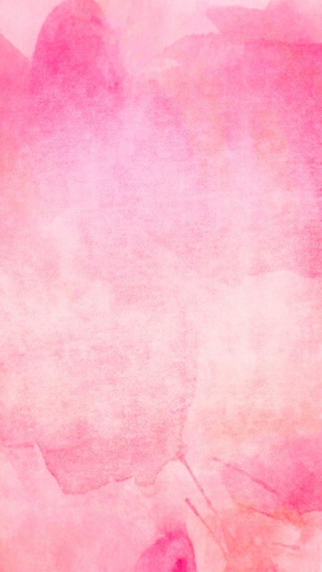 水彩テイストのピンクiPhone壁紙                                                                                                                                                                                 もっと見る