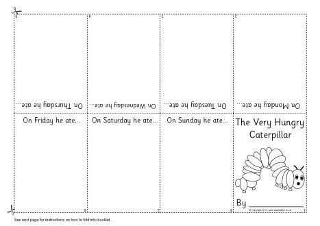 The Very Hungry Caterpillar fold-over mini booklet