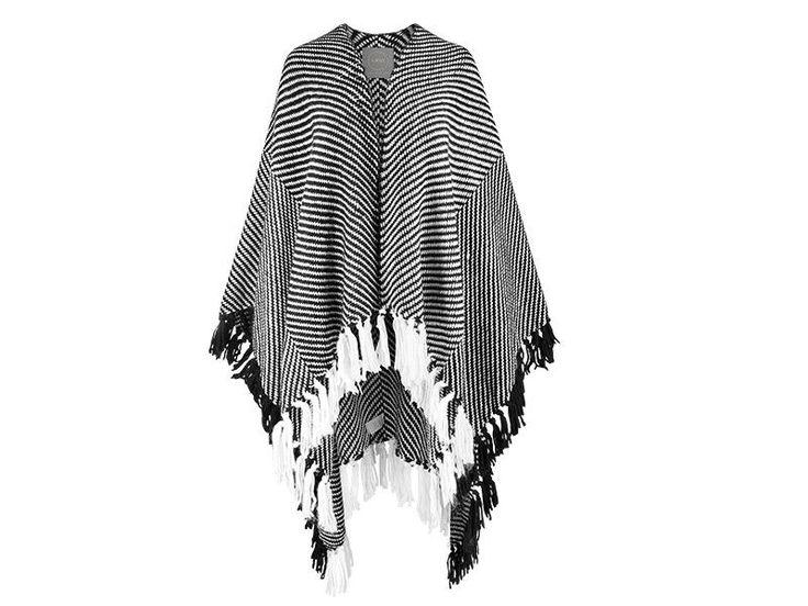 NWT Chic Women Shawl Wrap Scarf with Fringe by Designer Lukasz Jemiol  #ZARA #Poncho #Casual