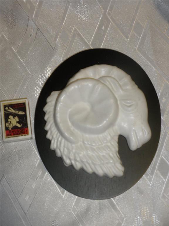 äldre EGO keramik stjärntecken Väduren,20x16,5 cm, fint skick