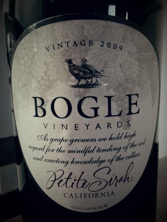 #Bogle Vineyards Petite Sirah 2009    Love Bogle !!!