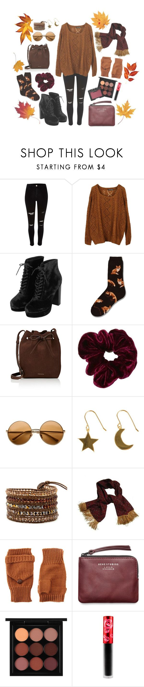 """""""It's literally June I'm sorry"""" by wearetheflowersofevil ❤ liked on Polyvore featuring River Island, Topshop, Mansur Gavriel, SOPHIE by SOPHIE, ASOS, Acne Studios, MAC Cosmetics, Lime Crime and NARS Cosmetics"""
