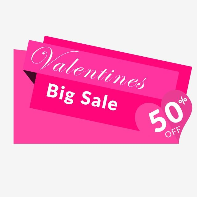 Transparent Valentines Day Banner Clipart