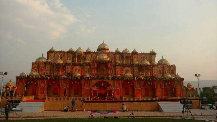 #To bring bach the era of rajput #bookeventz #wedding #stage #decor #decorations #Reception #stagedecor
