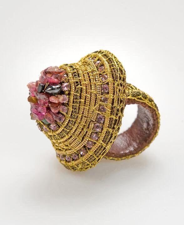 "Blossoms ….by Voula Karampatzaki 2004 ""When I work on my jewellery I find myself…"