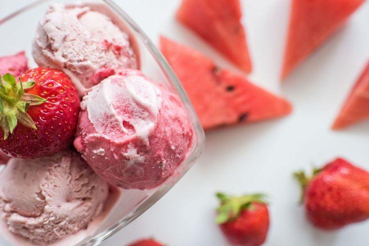 Lody arbuzowo - truskawkowe - healthy plan by ann