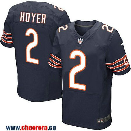 Men's Chicago Bears #2 Brian Hoyer Navy Blue Team Color Stitched NFL Nike Elite Jersey