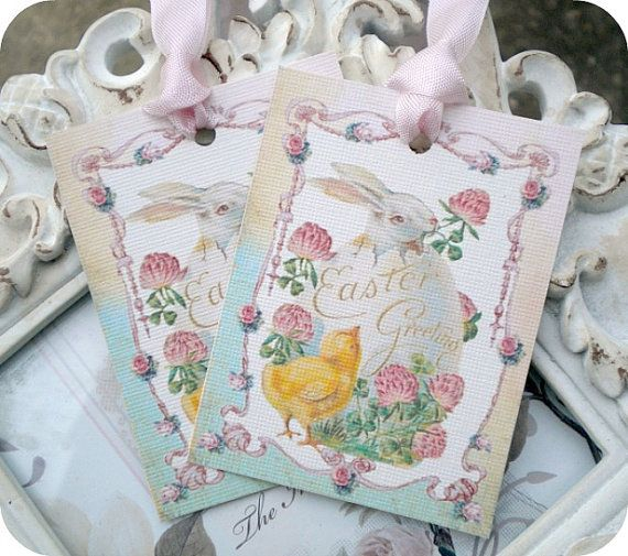 70 best easter images on pinterest easter gift easter treats and shabby happy easter tags 6 easter favor tags easter treat tags easter basket tags shabby gift tags easter egg tags vintage easter tags negle Choice Image