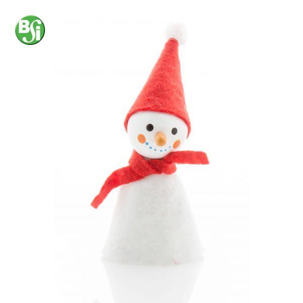 Figura di Natale in legno e poliestere a forma di pupazzo di neve.  #gadget #natale #gift #gadgetpersonalizzati #christmas #pupazzo #bsigadget