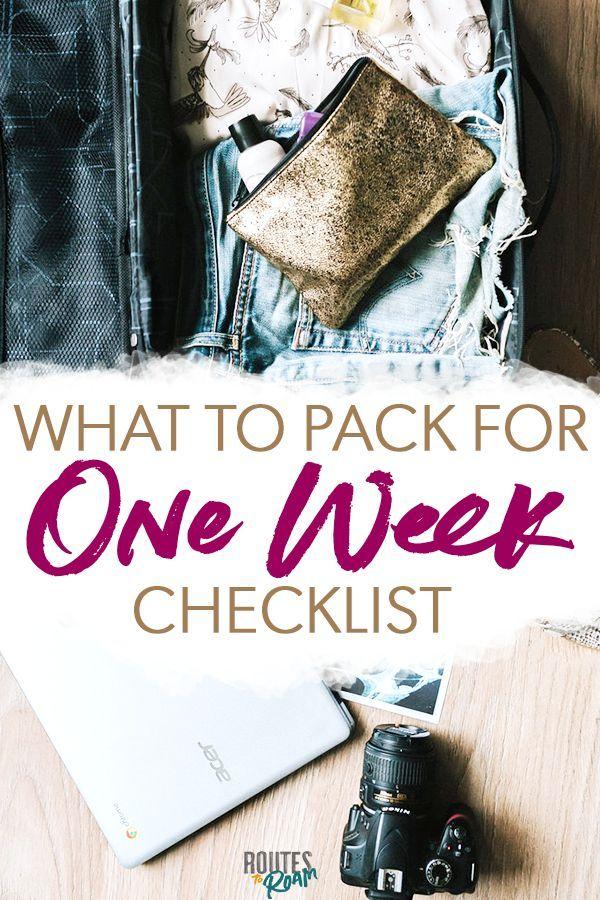 O que levar para uma semana de viagem longa   – Travel Tips