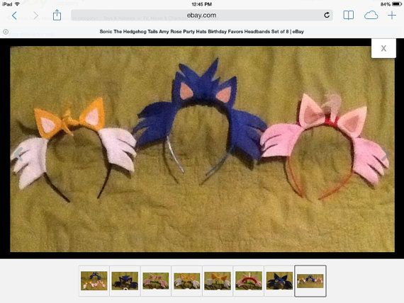 Sonic the Hedgehog Tails Amy Rose character by BeBeBunBunBits