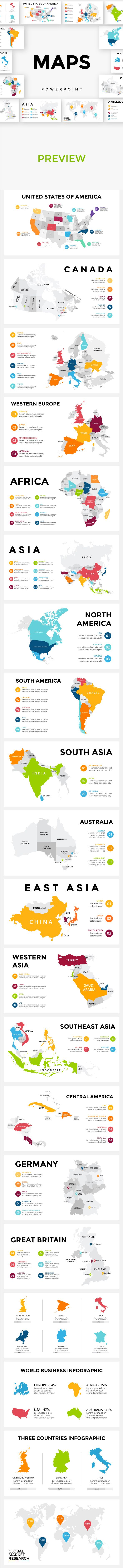 Maps | Powerpoint — Powerpoint PPT #australia #country • Available here ➝ https://graphicriver.net/item/maps-powerpoint/20918178?ref=pxcr