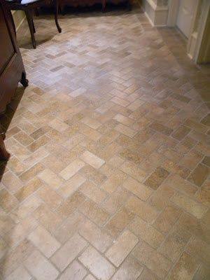 Herringbone Tile Floor Dream Kitchen Bath Pinterest