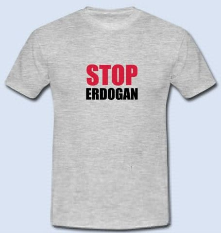 "STOP Erdogan - Turkey Erdogan Protest – Freedom and Democracy for Turkey. Stop Erdogan for human rights and freedom of speech. Support Erdogan Protest now!  Get your ""Stop Erdogan Shirt"" now https://www.spreadshirt.de/stop+erdogan+turkey+tuerkei-A105774770  #stopErdogan #Erdogan #Turkey #freeTurkey #Türkei #humanrights #freedom #democracy #kurdish #kurdistan #politics #welcometothefuture #amnestyinternational #ISIS #IS #Terrorist"