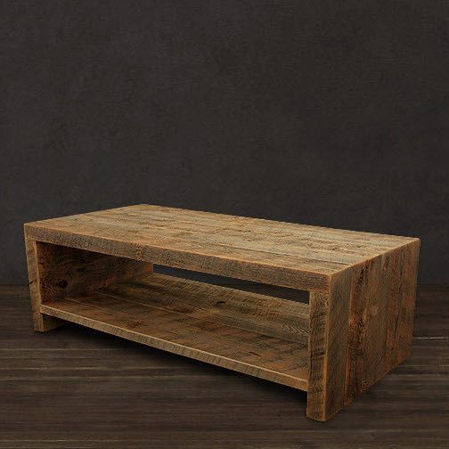 Rescued ~ Reborn The Telluride coffee table focuses on a simple, open design…