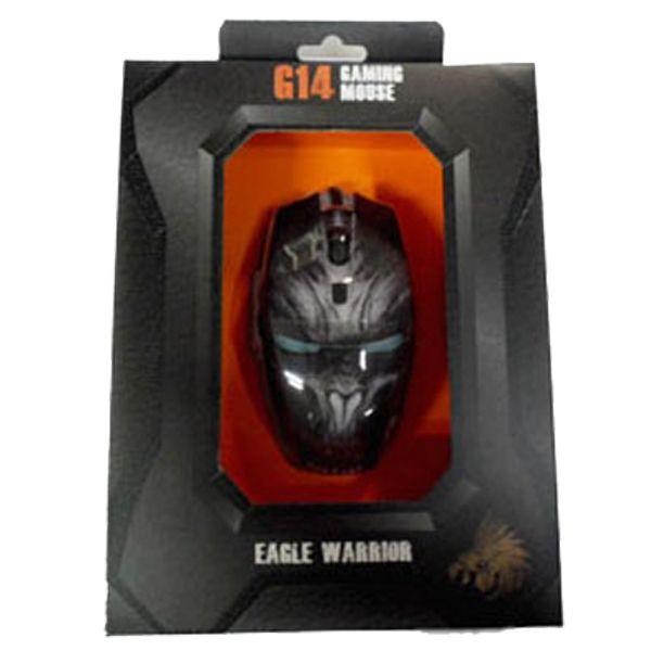 Mouse Eagle Warrior G14 Gamer Optico Alambrico/usb 2400 $150.00 precio sujeto a cambio