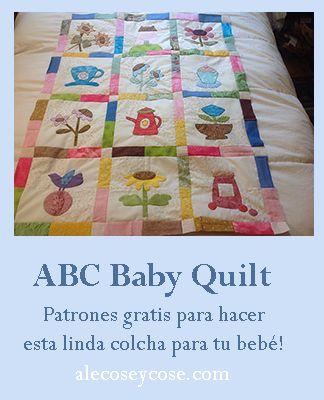 ABC colcha de patchwork para bebé, todo lo que te gusta sobre el patchwork y el quilting, tutoriales y patrones gratis #patchwork #quilting #patchworktips #quilting #patronesgratis #tutoriales #tutorialesdecostura