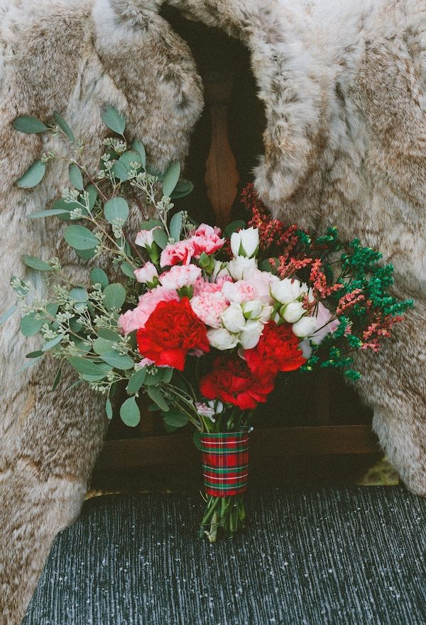 Red & Pink Plaid Bouquet PEPLUM events