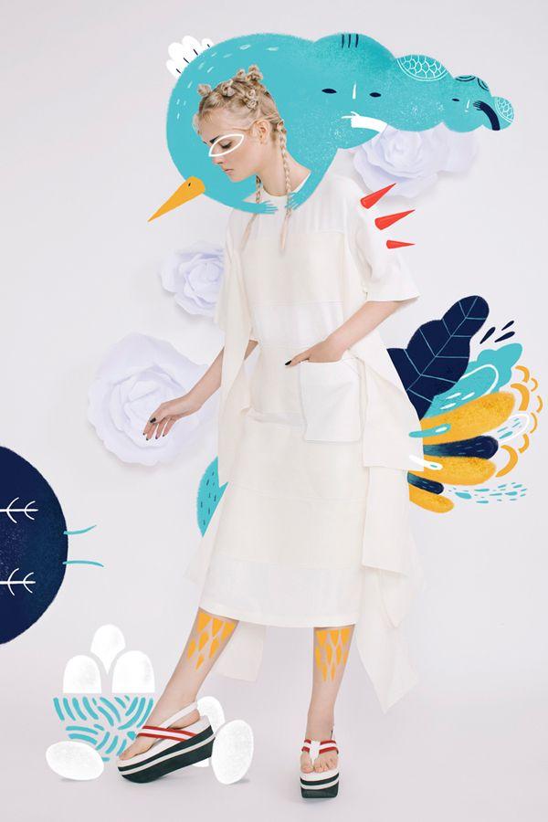 """Japonism"" Harper`s Bazaar Art Indonesia Illustration on Behance"